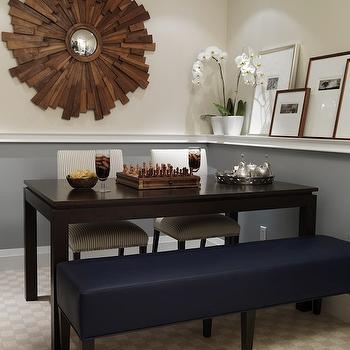 Wood Sunburst Mirror, Contemporary, dining room, Sarah Richardson Design