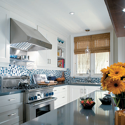 Blue Mosaic Tiles - Contemporary - kitchen