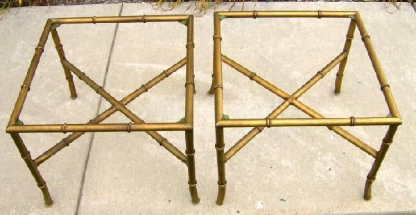 Faux Bamboo X Base Tables Hollywood Regency 1960 S Era