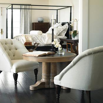 Ivory Tufted Chair, Transitional, bedroom