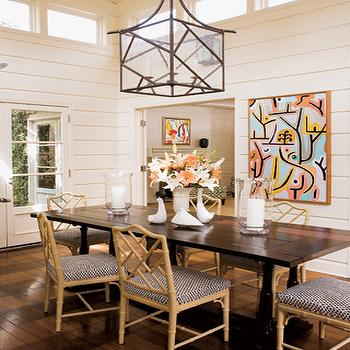 Faux Bamboo Chippendale Chairs, Contemporary, dining room