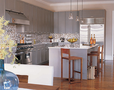 Modern Gray Kitchen Cabinets - Contemporary - kitchen ...