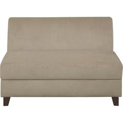 Clayton Customizable Beige Armless Microfiber Loveseat