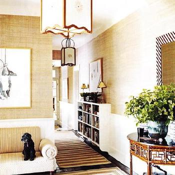 Bamboo Console Table, Transitional, entrance/foyer