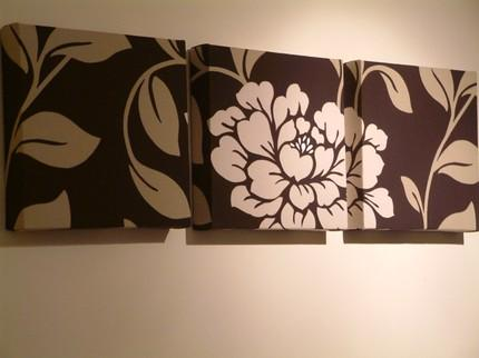 Brown And Beige Floral Art