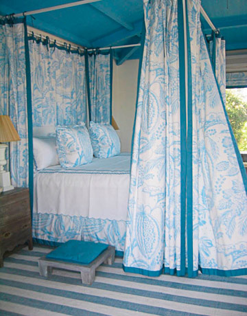 Turquoise Blue Ceiling Cottage Bedroom Benjamin