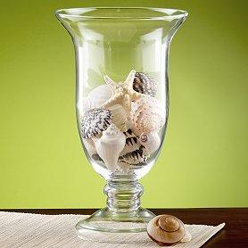 Glass Footed Vase
