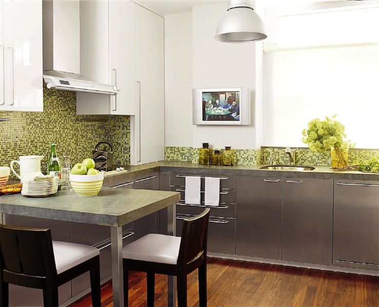 Kitchen Backsplash Green green gray kitchen cabinets design ideas