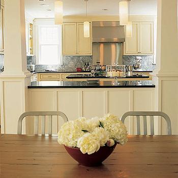 Cream Kitchen Cabinets, Contemporary, kitchen