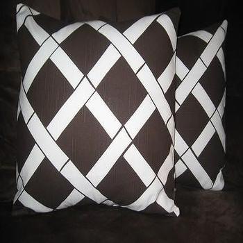 Etsy :: nenavon :: Pair of Decorative Pillow Covers-16 inch-Lattice Print
