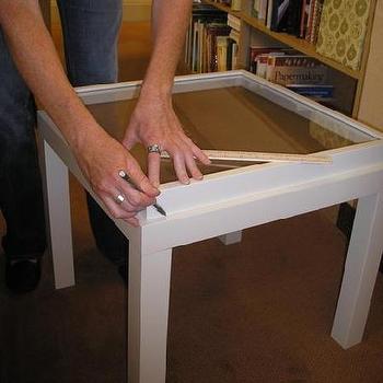 ikea ribba frame memory box table