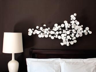 Gentil White Large Op Art