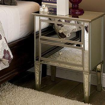 Park Mirrored Bedside Table, Pottery Barn