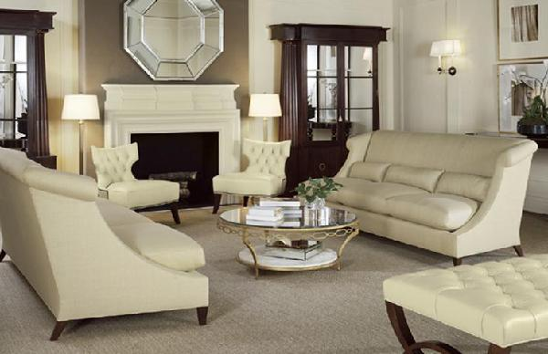 Barbara Barry White Tufted Furniture