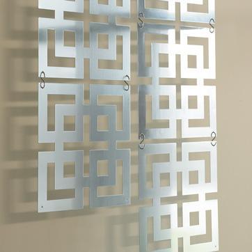 Metal squares wall decor