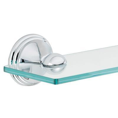 Elegant  Glass Bathroom Shelf Chrome Traditionalbathroomcabinetsandshelves