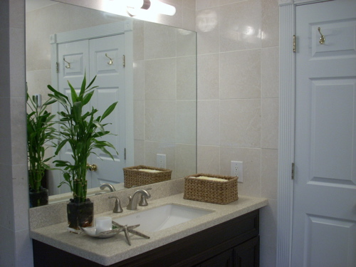 Crema Marfil Tiles Contemporary Bathroom