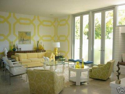 Chichi And Luxe Overlapping Octagonal Yellow Wall