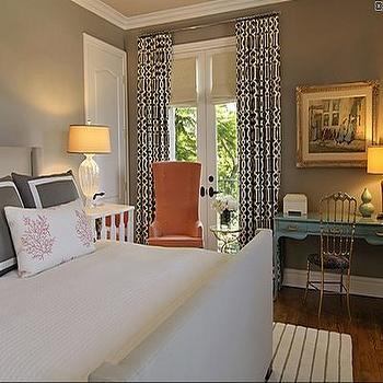 Turquoise Desk, Contemporary, bedroom, Jeneration Interiors