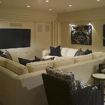 Pit Sectional, Contemporary, media room