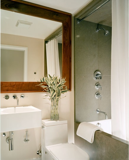 Bathroom Decor Frames : Wood framed bath mirror how to build a frame around