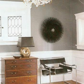 Gray Walls, Transitional, entrance/foyer, Benjamin Moore Smoke Gray