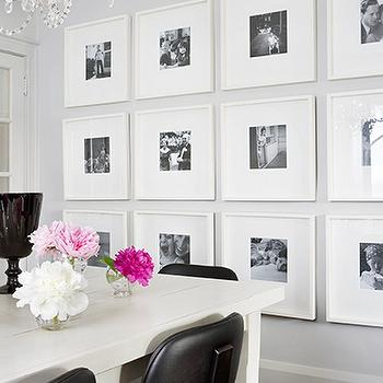 Photo Walls, Contemporary, dining room, Benjamin Moore Stonington Gray, Samantha Pynn