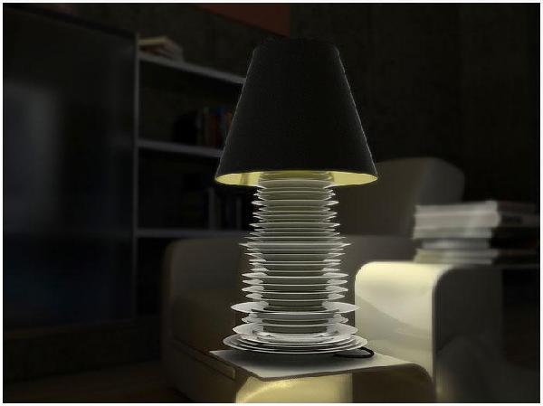 Dish lamp