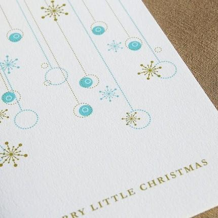 and White Glitter Christmas Card Set