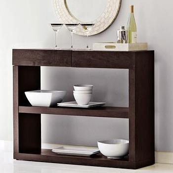 bookshelf console, west elm