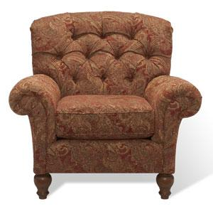 Brown Christabel Tufted Club Chair