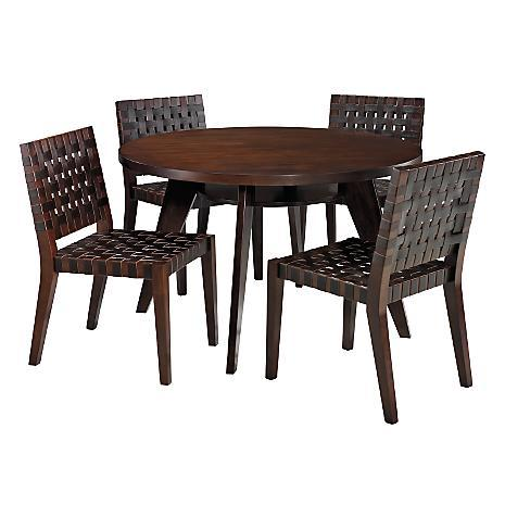 American Signature Furniture Dining Room Tulum Leather 5 PC Dinette
