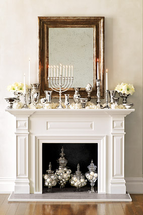 view post holiday fireplace decor