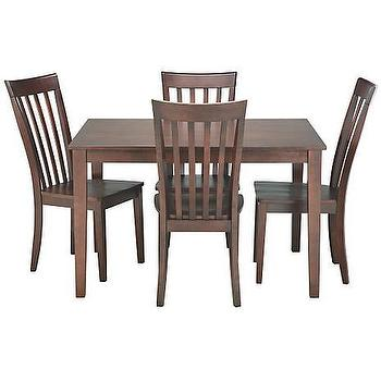 dining table 4 side chairs solid wood furniture