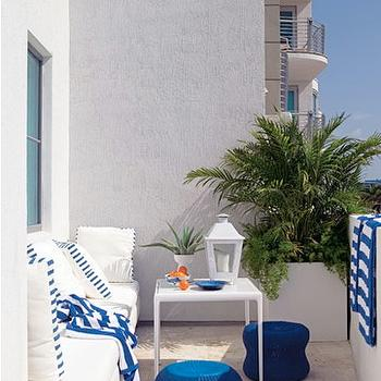Indigo Blue Accents, Contemporary, deck/patio, House Beautiful