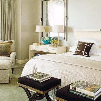 Brown Greek Key Pillow, Transitional, bedroom, House Beautiful