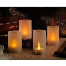 Battery-Operated 4-pc. Flickering Tealight Candles : Target
