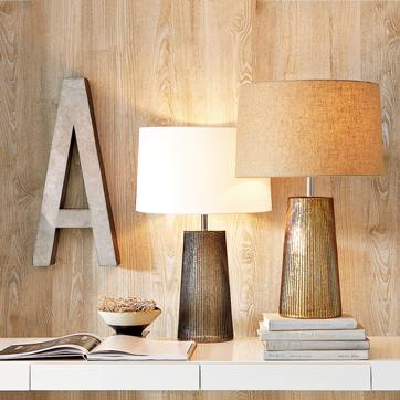 Threshold Gold Honeycomb Foiled Table Lamp Base