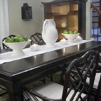 Pagoda Cabinet, Asian, dining room, Benjamin Moore Grant Beige