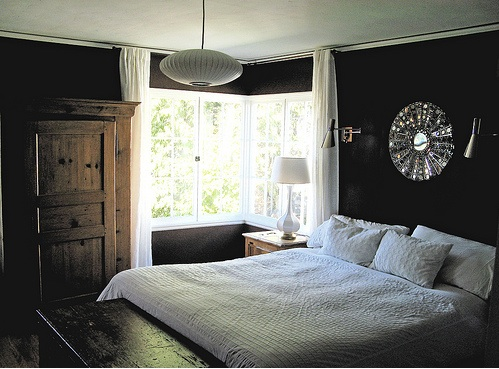 Dark brown bedroom walls transitional bedroom Dark brown walls bedroom