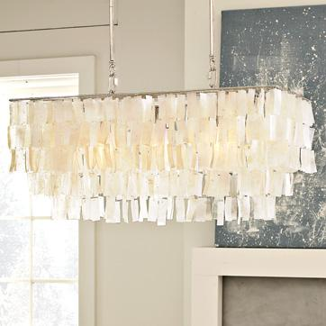 Large Rectangle Hanging Capiz Pendant West Elm