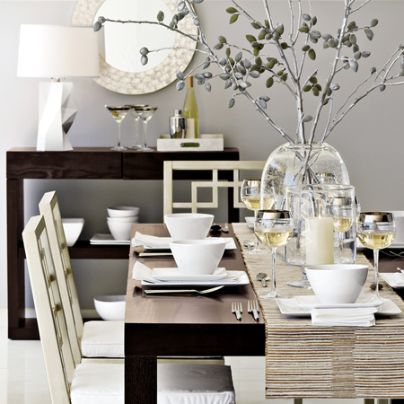 Gray Dining Room with Gray Ghost Chairs - Contemporary - Dining ...