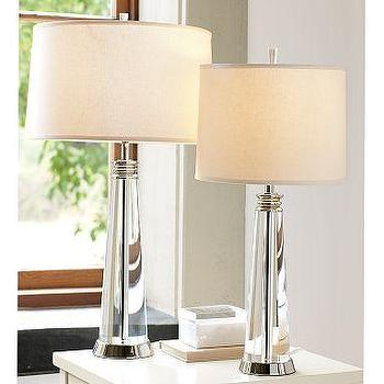 Crystal pier lamps crystal restoration hardware for Restoration hardware bedside tables