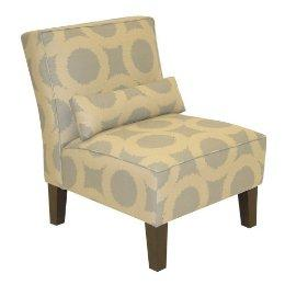 Exceptionnel Grey Contemporary Print Upholstered Chair
