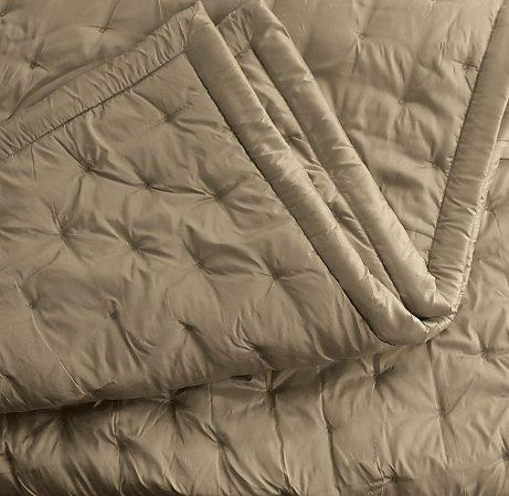 beige silk dot quilt and shams view full size