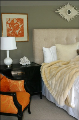 Orange Accent Chair - Contemporary - bedroom