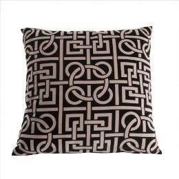 Printed Pillow, Black (18x18