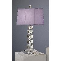 Purple And Sivler Table Lamp