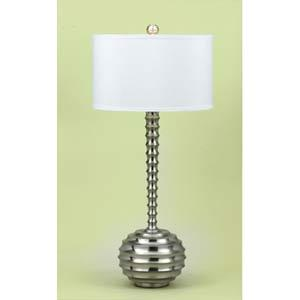 Candice olson brushed silver table lamp aloadofball Gallery