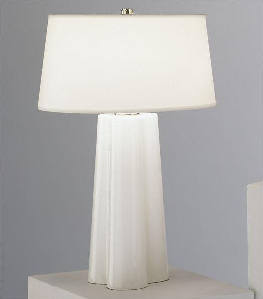 White Glass Wavy Table Lamp